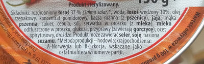 Pasta z łososia pikantna - Ingredients - pl