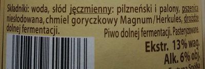 Marcowe - Składniki - pl