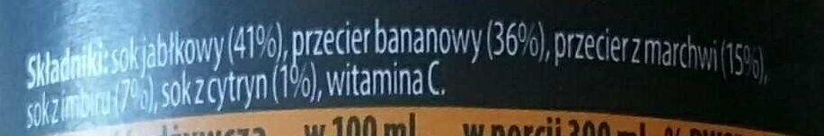 Smoothie o smaku banana marchew imbir - Składniki - pl