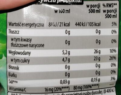 NAPÓJ ALOESOWY LIGHT - Informations nutritionnelles - pl