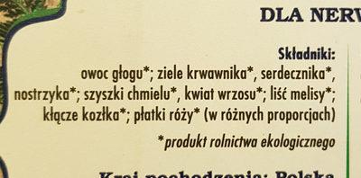 Herbata polecana dla nerwusów - Ingrédients - pl