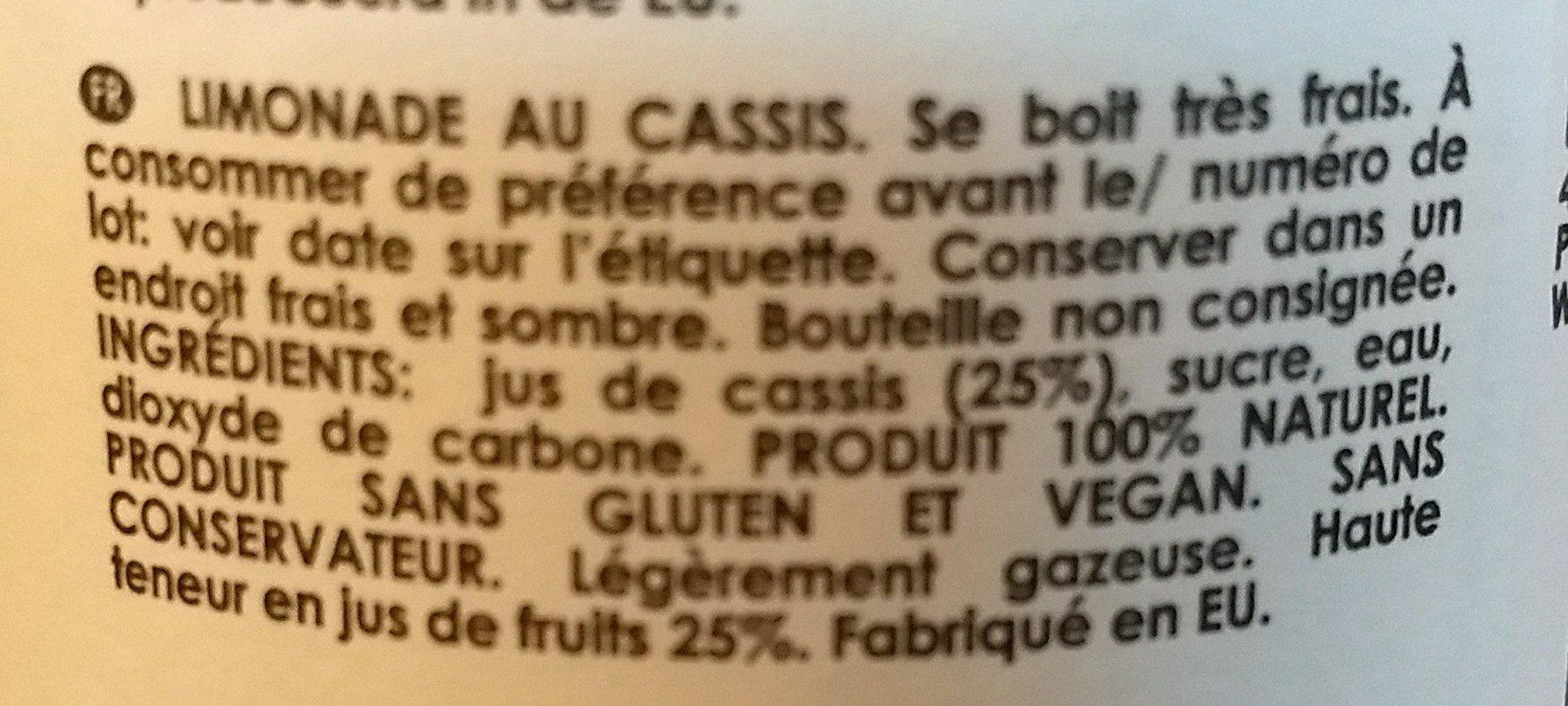 On' Lemon Black Currant - Ingrediënten - fr