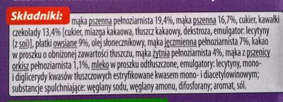 Ciastka czekolada zboża - Składniki - pl