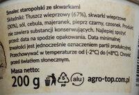 Smalec staropolski ze skwarkami - Ingredients - pl