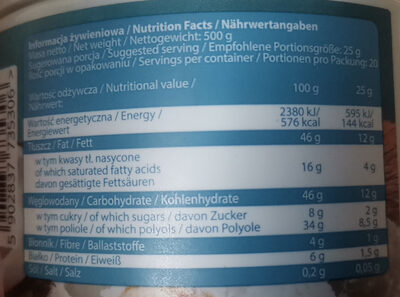 NUT LOVE - Nutrition facts - pl