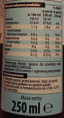 Napój mleczno-kawowy o smaku waniliowego latte. - Nutrition facts - pl