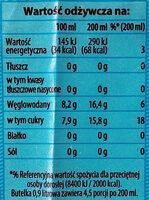 Napój gazowany o smaku cytrynowym. - Wartości odżywcze - pl