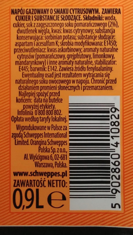 Napój gazowany o smaku cytrusowym. - Ingrédients - pl