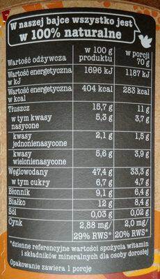 Owsianka Espresso i morwa biała - Wartości odżywcze - pl