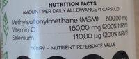 MSM Vitamine C + Sélénium - Nährwertangaben - fr