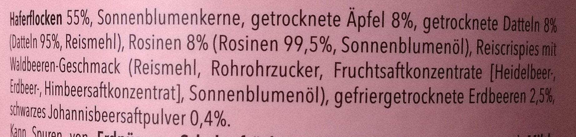 Früchte-Müsli - Ingredients - de
