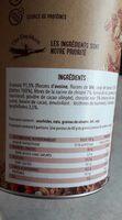 Granola chocolat framboises - Valori nutrizionali - fr