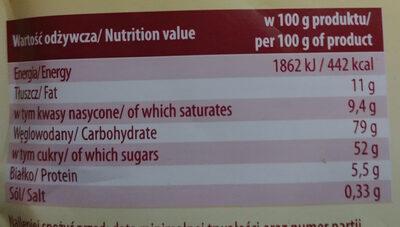 Cappuccino o smaku śmietankowym - Nutrition facts