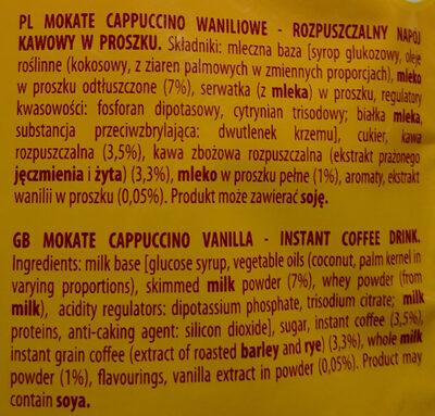 Cappuccino waniliowe - Ingredients
