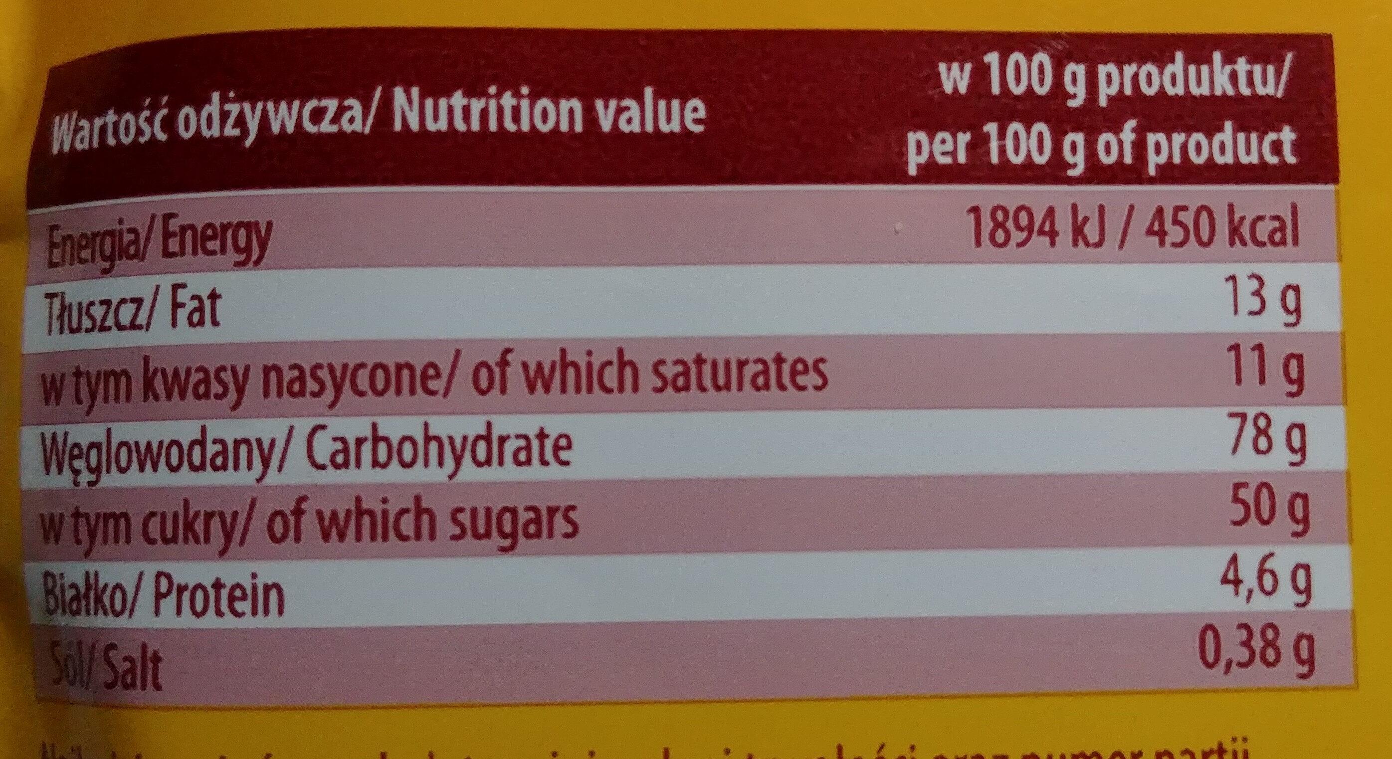 Cappuccino waniliowe - Nutrition facts