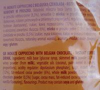 Mokate Cappuccino z belgijską czekoladą - Składniki