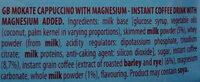 Cappuccino z magnezem - Ingredients - en