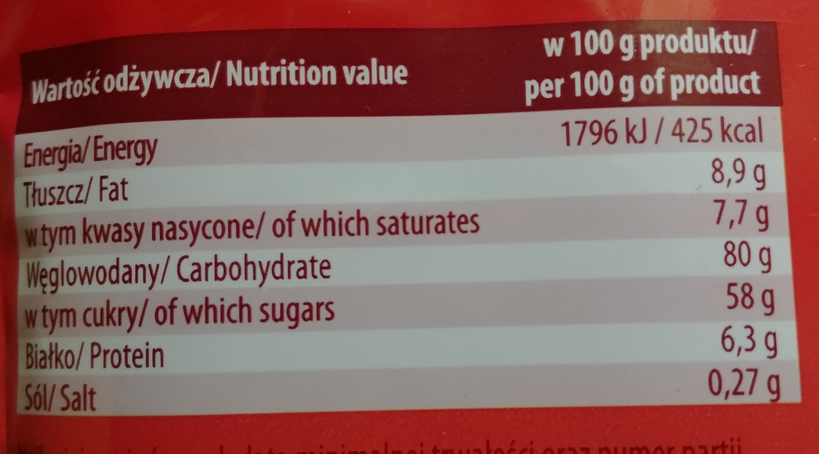 Cappuccino caffee - Nutrition facts