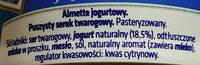 Serek jogurtowy - Składniki