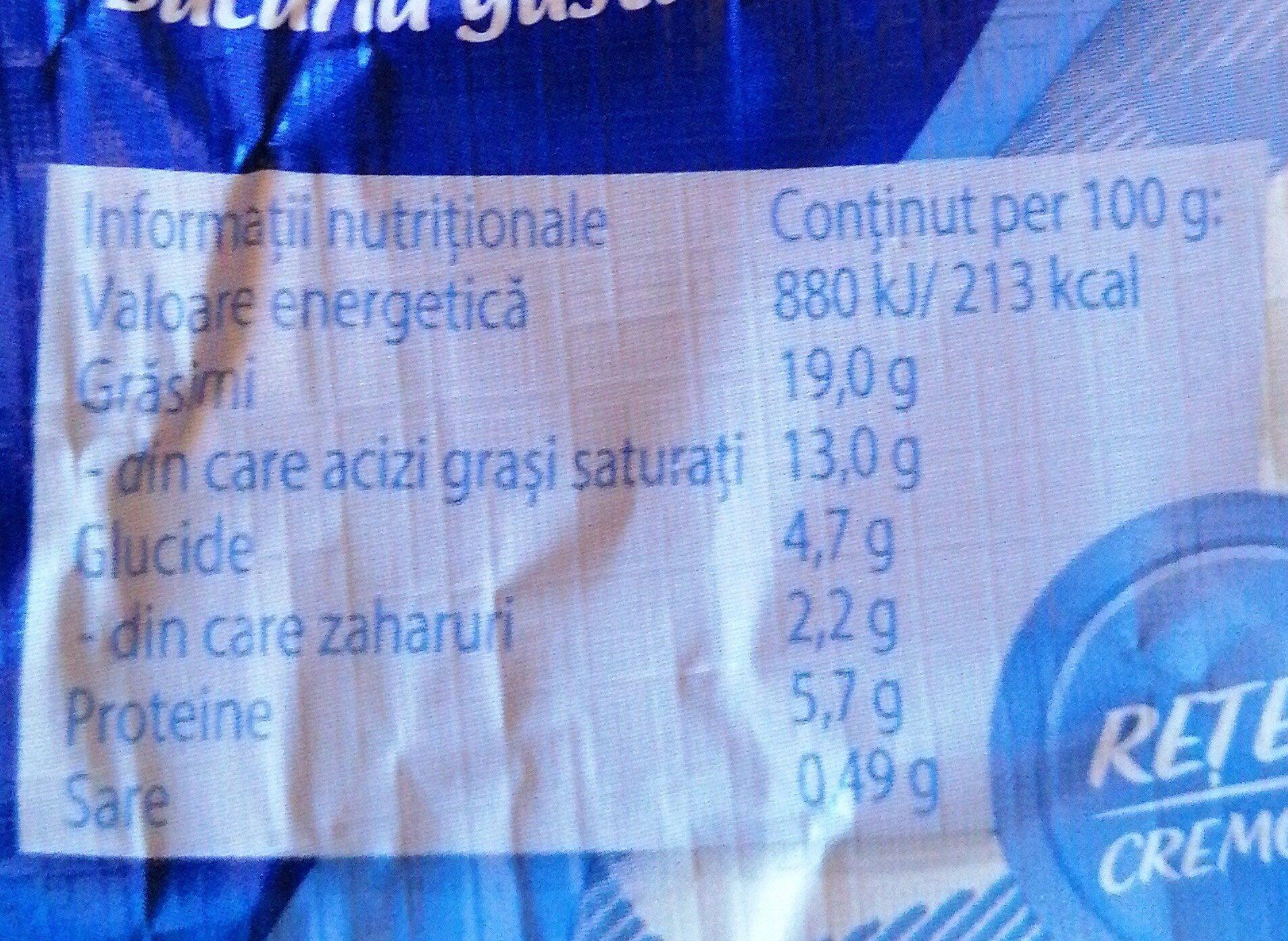 Hochland Crème Clasic - Informations nutritionnelles - ro