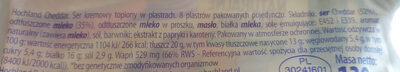 Ser Kremowy Cheddar - Składniki - pl