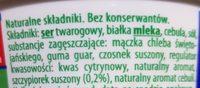 Kremowy serek twarogowy kanapkowy ze szczypiorkiem - Ingrédients - fr