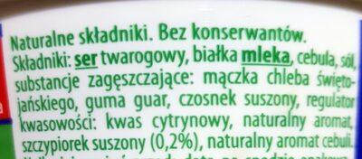 Kremowy serek twarogowy kanapkowy ze szczypiorkiem - Składniki - pl