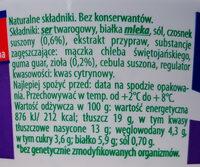 Serek twarogowy z czosnkiem i ziołami - Składniki - pl