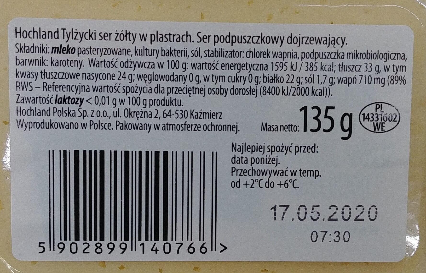 Tylżycki - Składniki - pl
