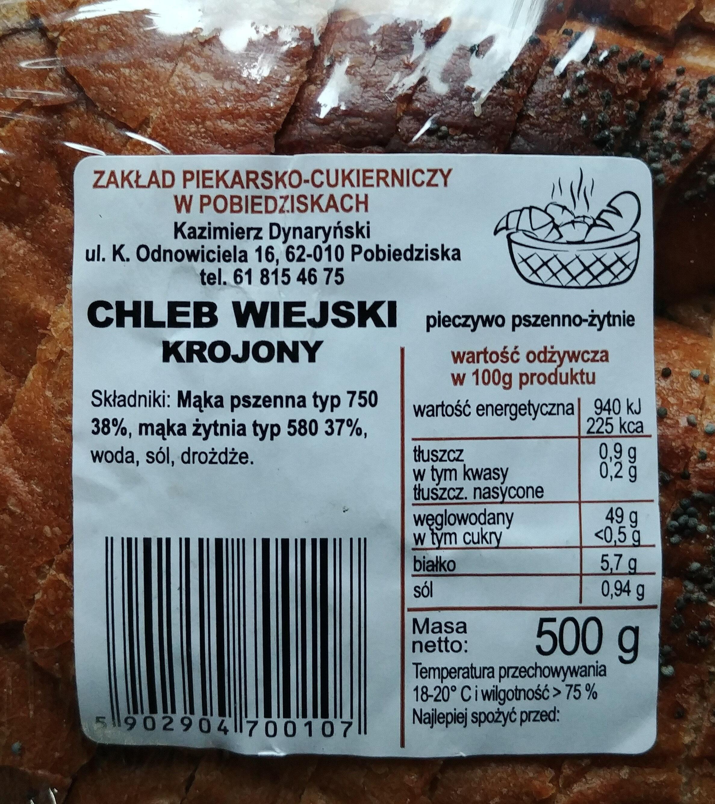 Chleb wiejski krojony - Produkt