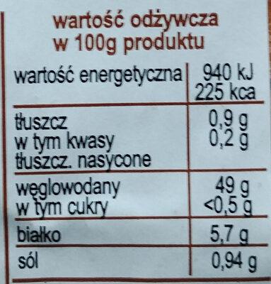 Chleb wiejski krojony - Wartości odżywcze