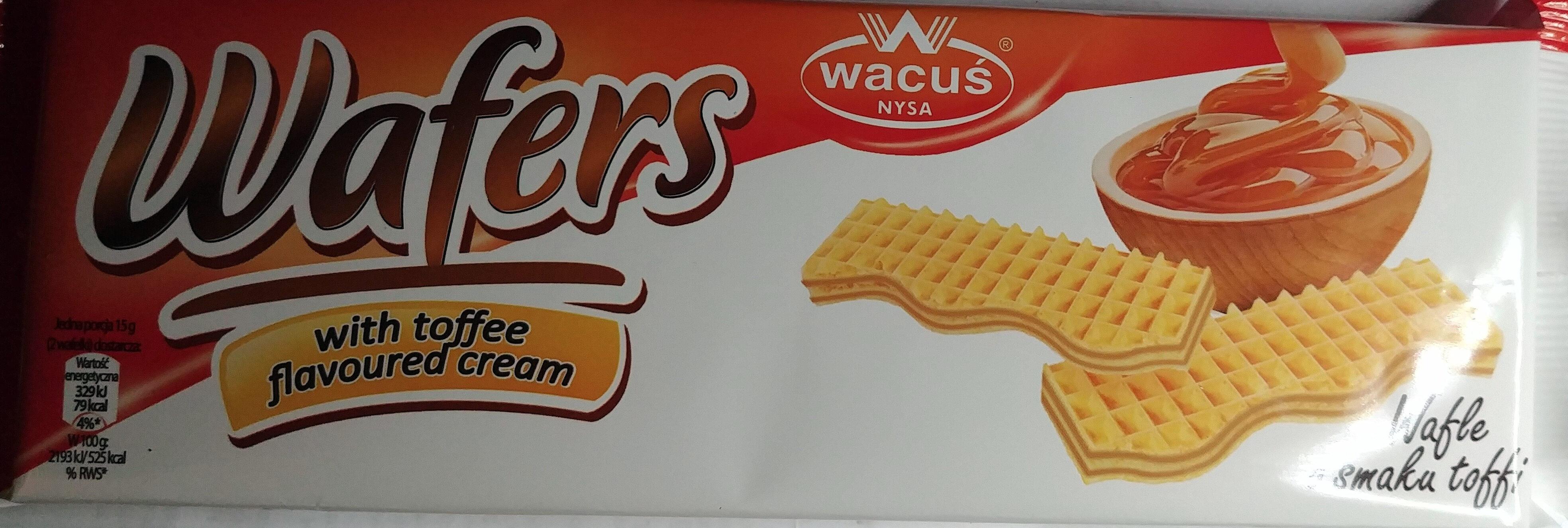 Wafle o smaku toffi - Produkt