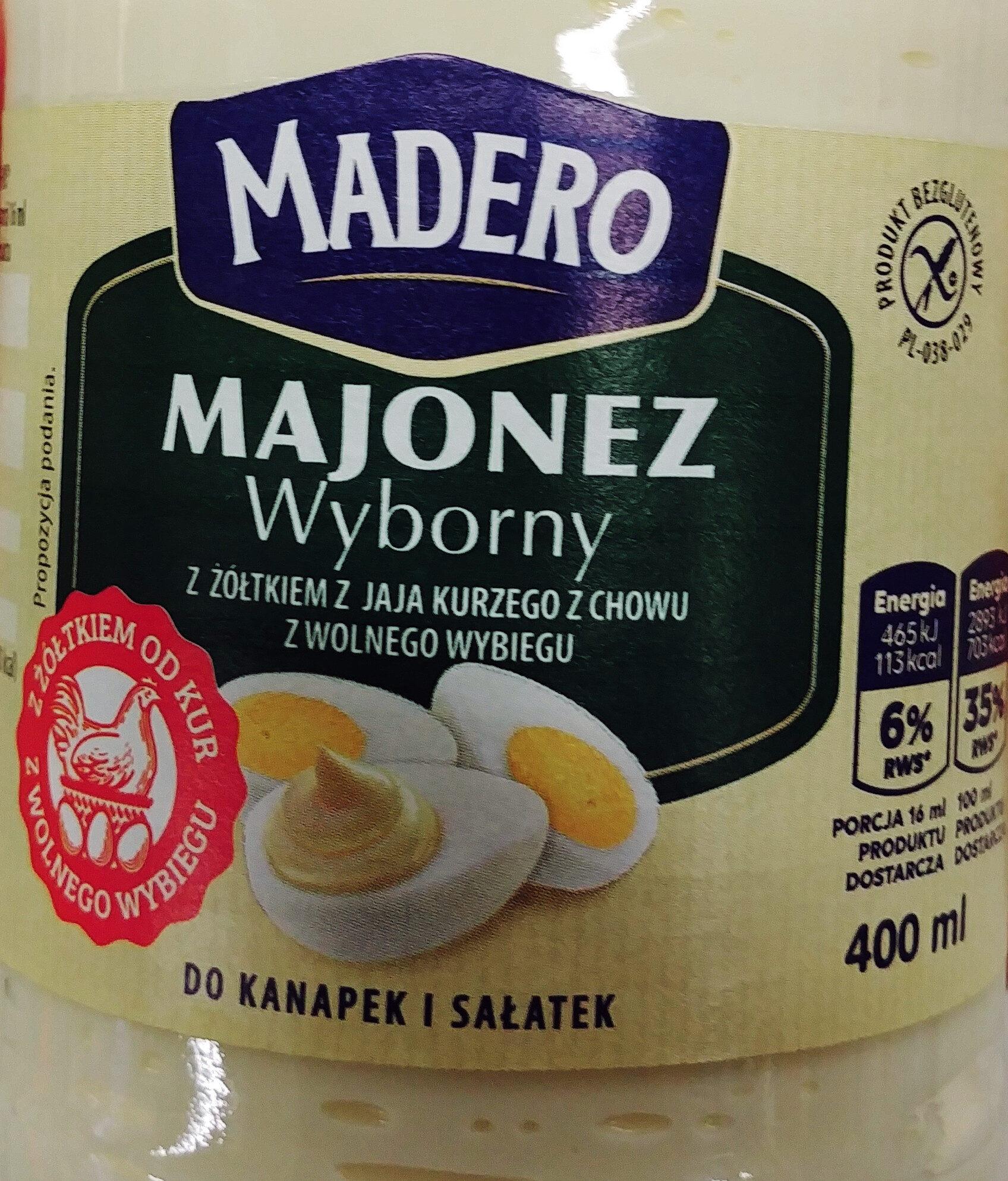 Majonez wyborny z żółtkiem z jaja kurzego z chowu z wolnego wybiegu - Produit - pl