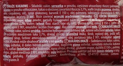 Draże kakaowe - Składniki - pl