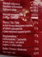 Draże kakaowe - Wartości odżywcze - pl