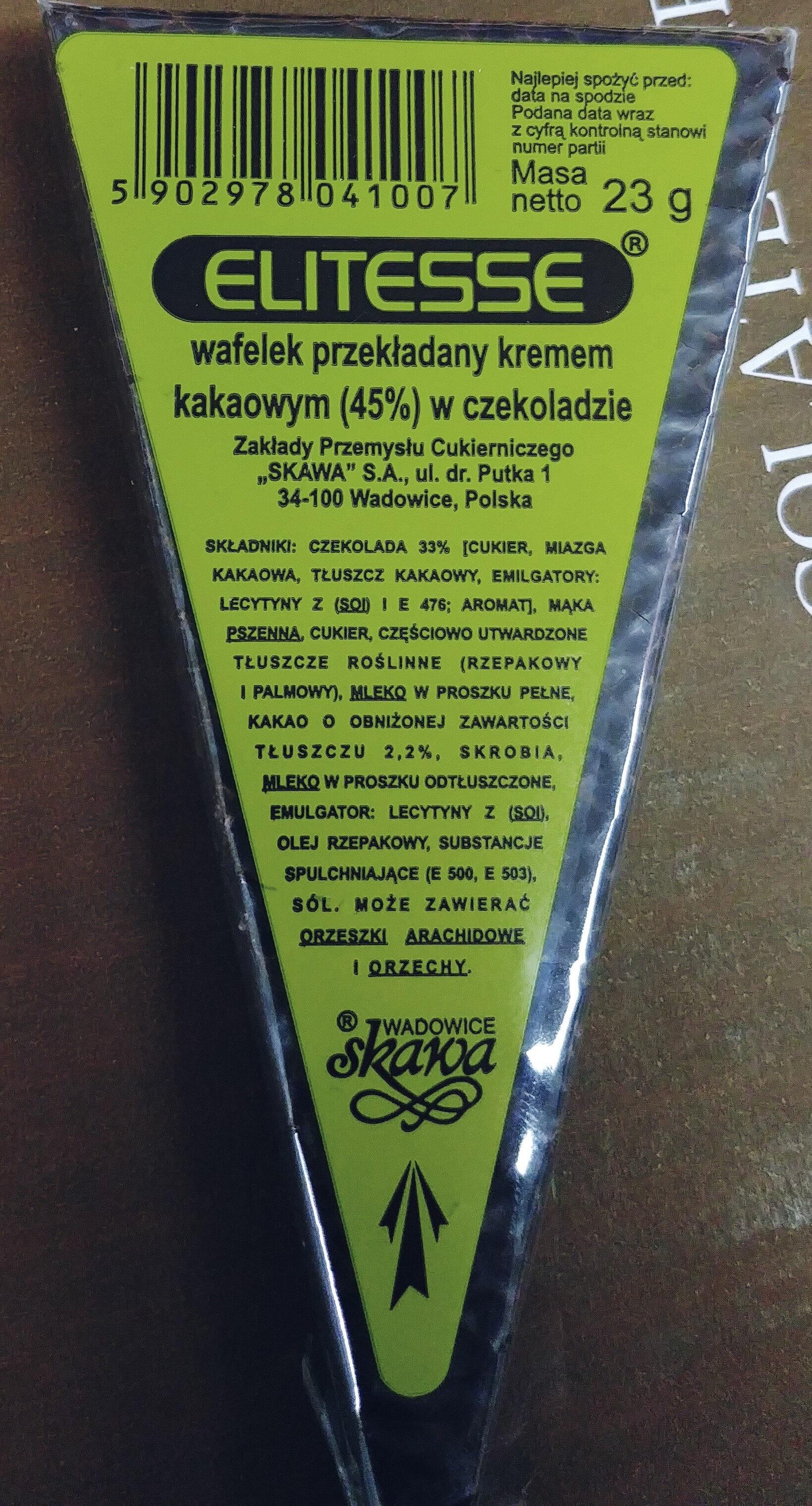 Wafelek przekładany kremem kakaowym (45%) w czekoladzie. - Produkt - pl