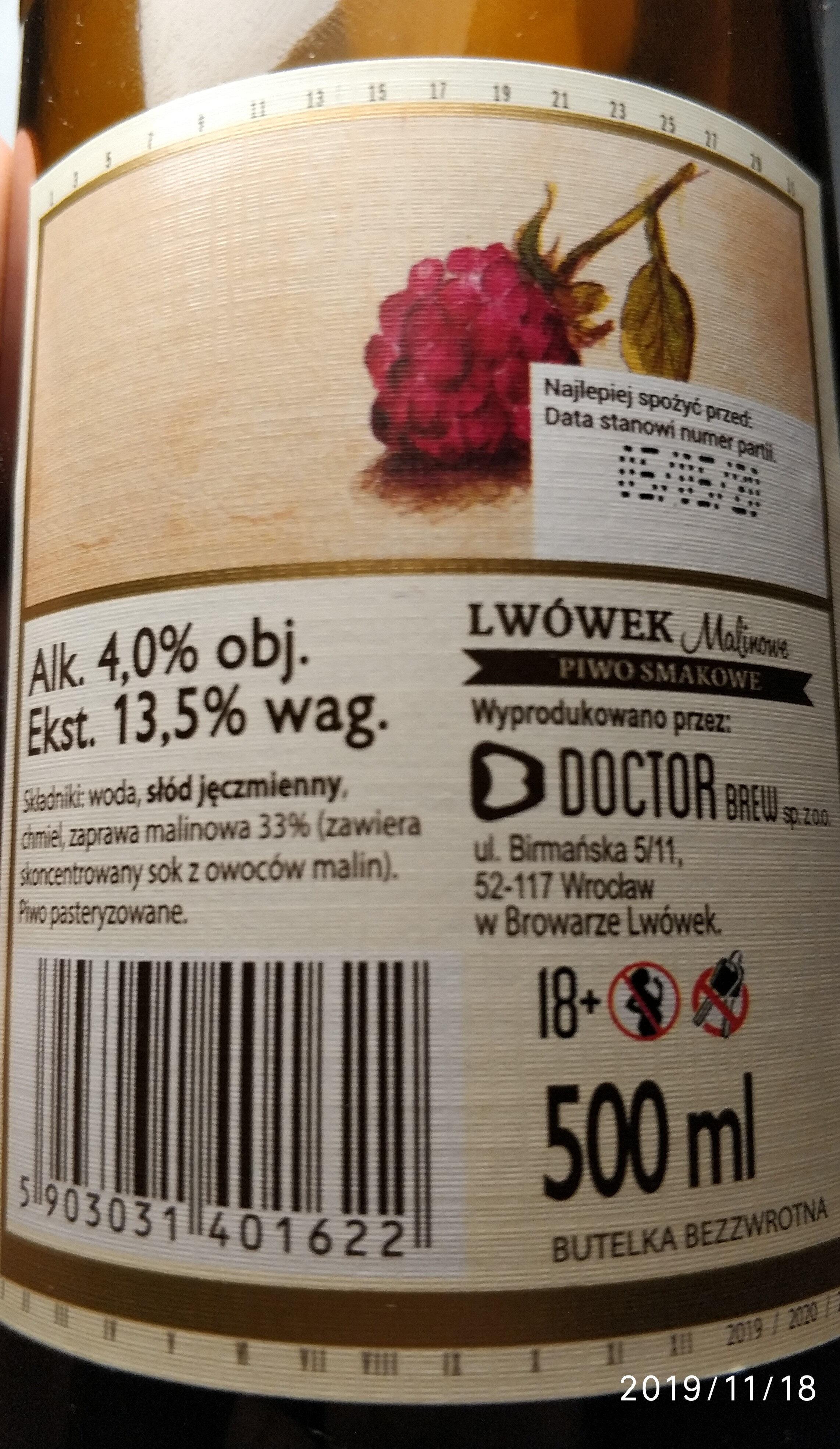 Piwo niepasteryzowane - Produkt