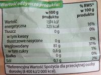 Skrobia ziemniaczana - Informations nutritionnelles