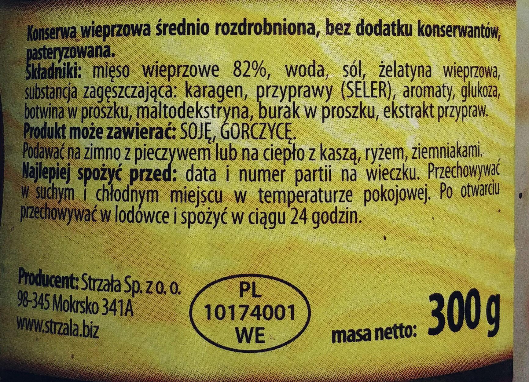 Kiełbasa ze wsi - Ingrédients - pl