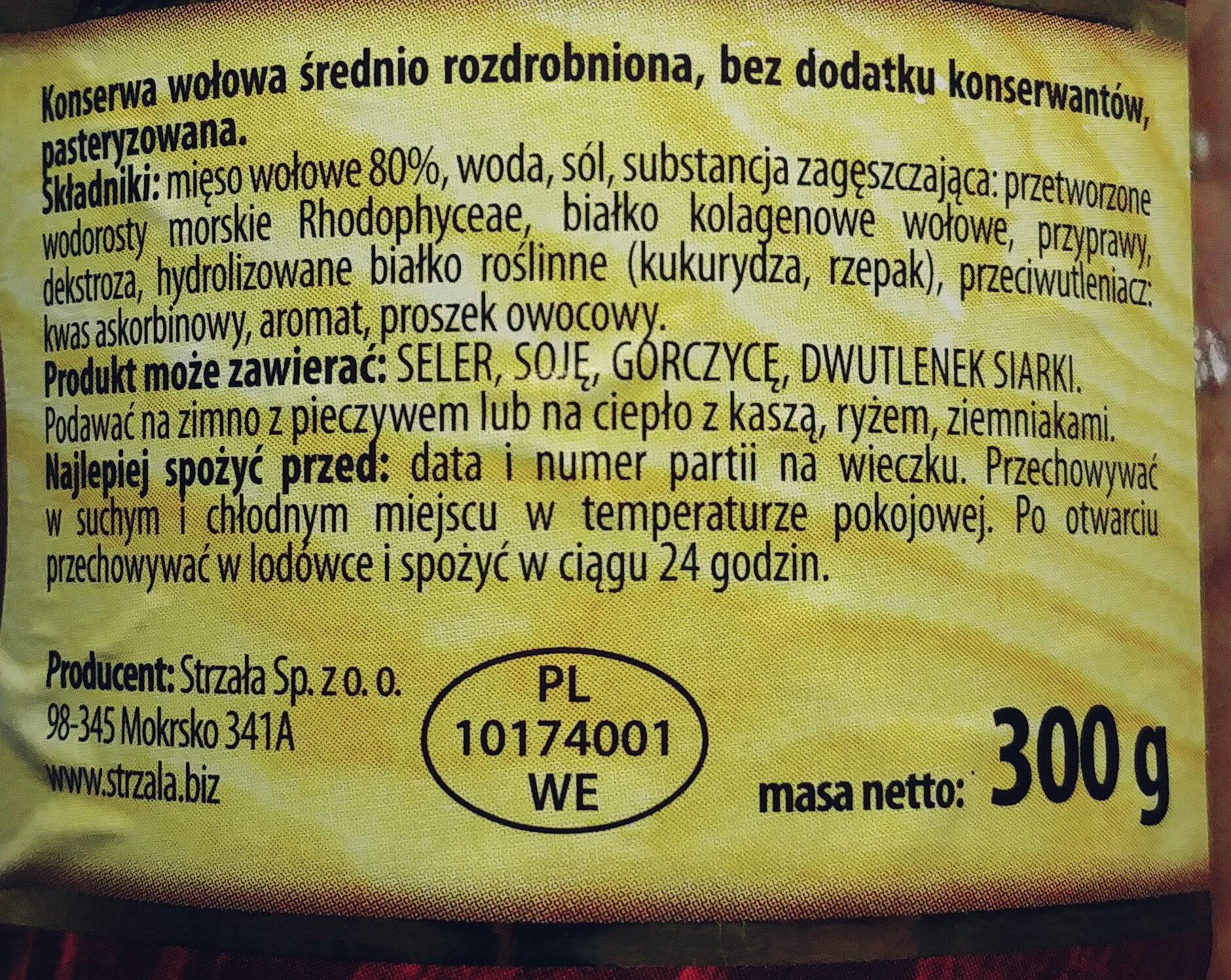 Wołowina w sosie własnym - Składniki - pl