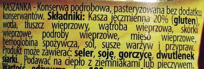 Kaszanka - Ingredients - pl