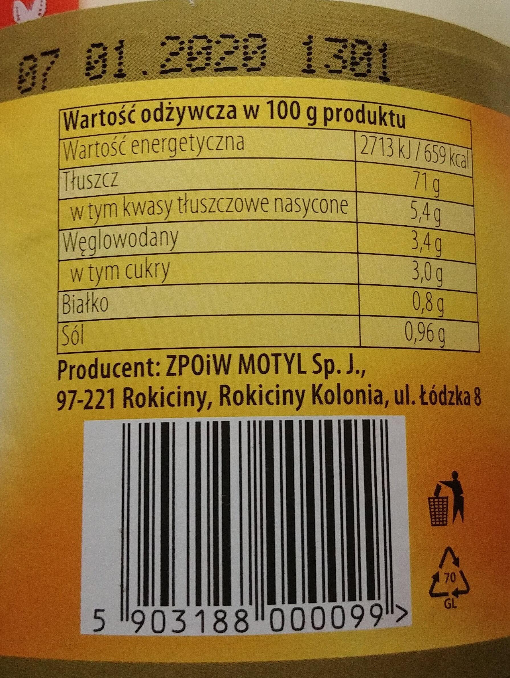 Majonez stołowy - Wartości odżywcze - pl