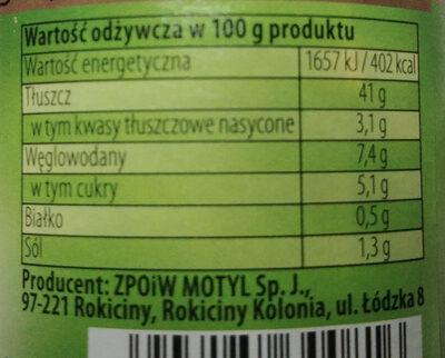 Sos tatarski - Wartości odżywcze - pl