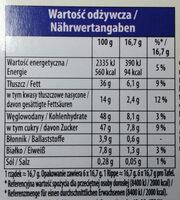 Czekolada mleczna z całymi orzechami laskowymi - Nutrition facts