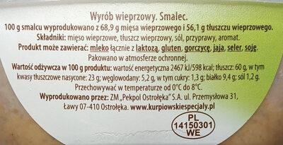 Smalec z mięsem - Ingredients - pl