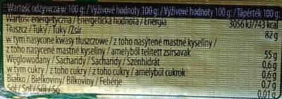 Irlandzkie masło - Wartości odżywcze - pl