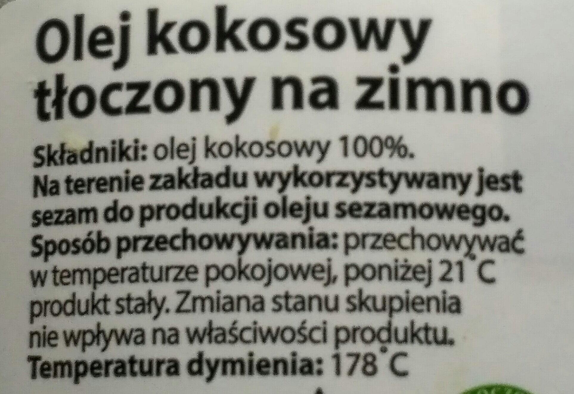 Olej kokosowy - Składniki - pl