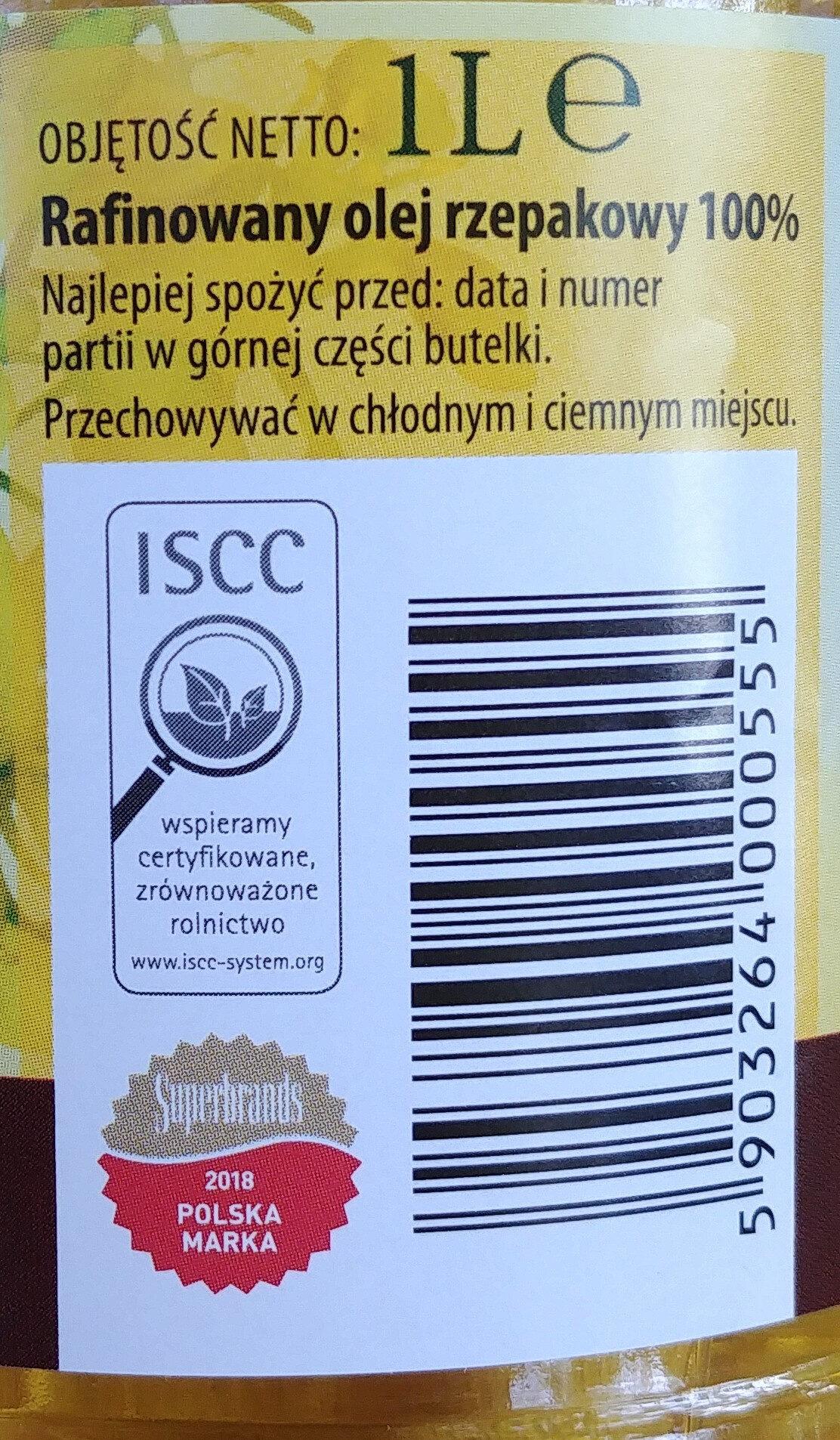 Wielkopolski olej rzepakowy tłoczony tylko raz, rafinowany. - Składniki - pl