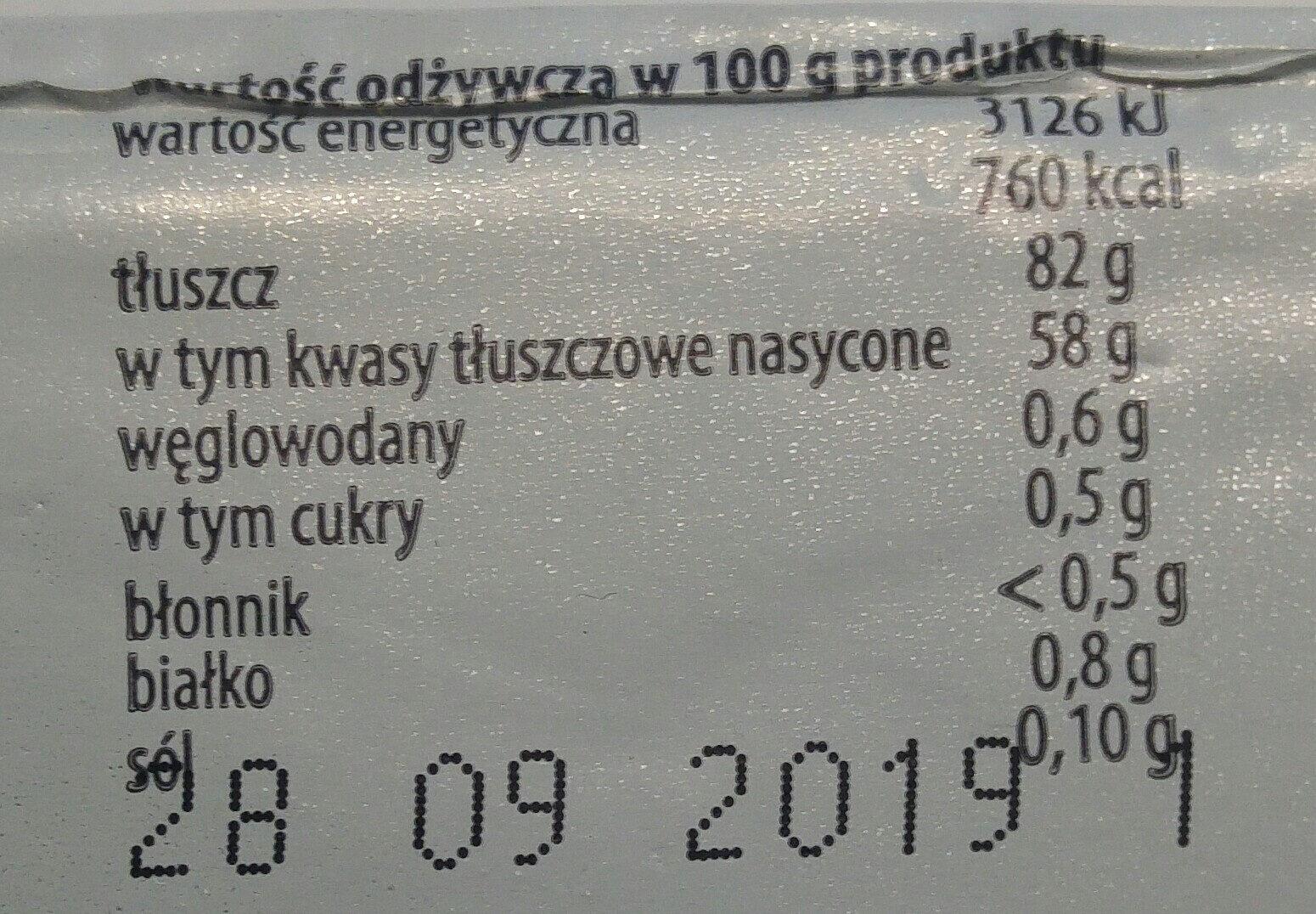 Tradycyjnie masło z Łosic - Wartości odżywcze - pl
