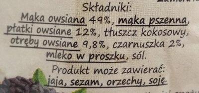 Ciasteczka owsiane z czarnuszką - Składniki - pl